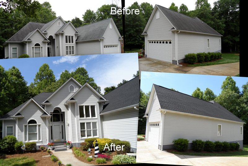 Storm Stopper Roofing Before And After Photps Of Completed